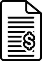 ícone de linha para fatura vetor