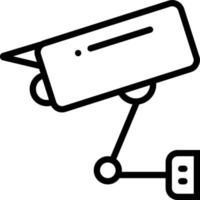 ícone de linha para cctv vetor