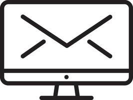 ícone de linha para envio vetor