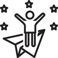 ícone de linha para ambicioso vetor