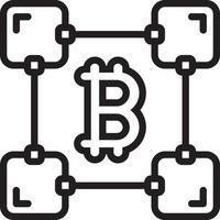 ícone de linha para blockchain vetor
