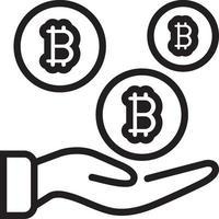 ícone de linha para pagamento vetor