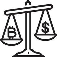 ícone de linha para valor vetor