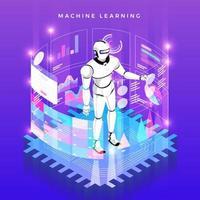 tecnologia de aprendizado de máquina vetor