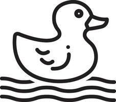 ícone de linha para pato vetor