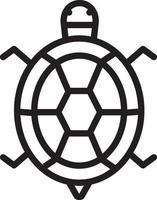 ícone de linha para tartaruga vetor