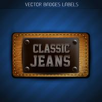 rótulo de jeans clássico vetor