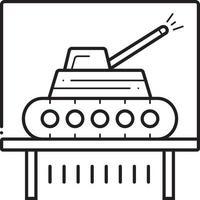 ícone de linha para tanque vetor