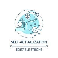 ícone do conceito turquesa de autoatualização vetor