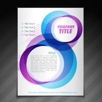 modelo de cartaz de folheto de panfleto de empresa vetor