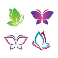 imagens do logotipo da beleza da borboleta vetor