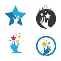pegue uma ilustração das imagens do logotipo da estrela vetor