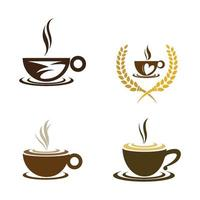 imagens do logotipo da cafeteria vetor