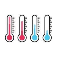 ilustração das imagens do logotipo do termômetro vetor