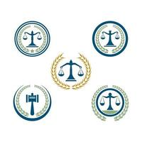 ilustração de imagens de logotipo de escritório de advocacia vetor