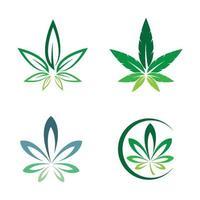 ilustração das imagens do logotipo da cannabis vetor
