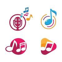 imagens de logotipo de música vetor