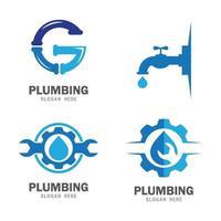 imagens de logotipo de encanamento vetor