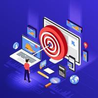 marketing digital de remarketing vetor
