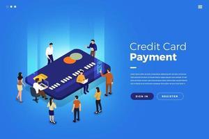 cartão de crédito isométrico vetor