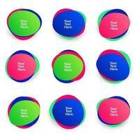 borrão abstrato forma livre formas gradiente de cor cores iridescentes efeito transição suave, ilustração vetorial eps10 vetor