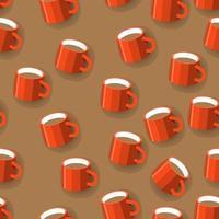 caneca de café de padrão de fundo sem emenda. ilustrações de design plano. ilustrar o vetor. vetor