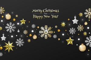 natal e feliz ano novo vetor