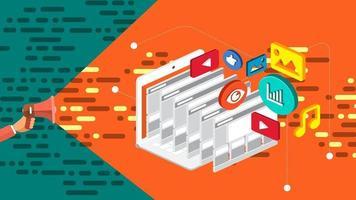 banner marketing digital vetor