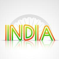texto da bandeira indiana vetor