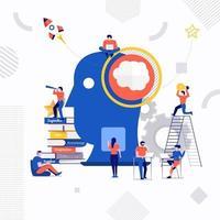 poder do cérebro em equipe vetor