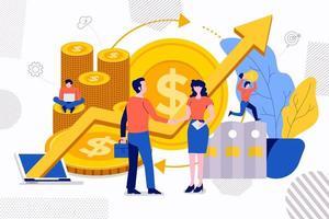 negócio de sucesso de investimento vetor