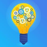 conceito de design plano criar uma grande ideia com xx. ilustrar o vetor. vetor