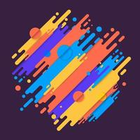 várias formas arredondadas coloridas linhas em ritmo diagonal. ilustração vetorial de composição dinâmica. elemento geométrico gráfico de movimento. vetor