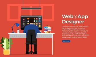 web designe e programador vetor