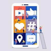 equipe de mídia social do espaço de trabalho vetor