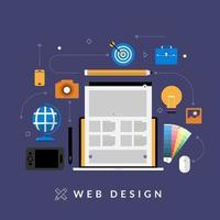 conceito de web design vetor