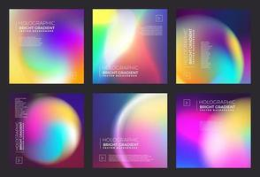 gradiente de fluido holográfico brilhante vetor
