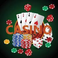 luxuoso jogo de apostas de cassino vip com roleta, fichas de cassino e cartas realistas vetor