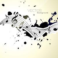 notas musicais vetor