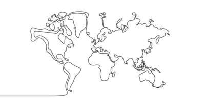 desenho de linha contínua de globos terra. globo semelhante mundo mapa silhueta pano de fundo para educação, viagens pelo mundo, gráficos de informação, ciência, apresentações da web isoladas no fundo branco