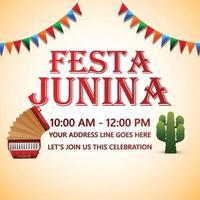 festa junina evento fundo com ilustração criativa vetor