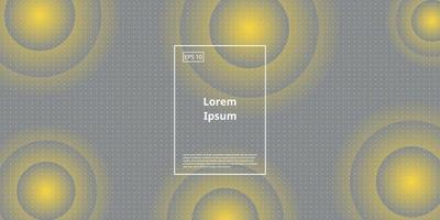 abstrato do fundo com gradiente de círculo, cinza e amarelo finais, cores de 2021. ilustração em vetor design moderno.