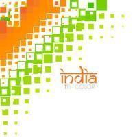 design de bandeira indiana elegante vetor