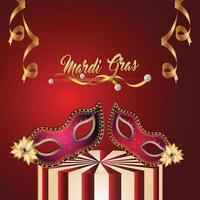 fundo festa mardi gras brasil com máscara criativa