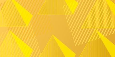 fundo de forma geométrica gradiente abstrato com elemento triângulo na cor amarela vetor