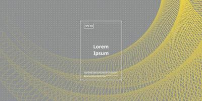 fundo abstrato circular. elemento na cor amarela e cinza. cores de 2021 design moderno com linhas onduladas. ilustração vetorial para cartaz, capa e página inicial. vetor