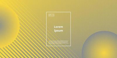 fundo gradiente com elemento geométrico em amarelo e cinza vetor