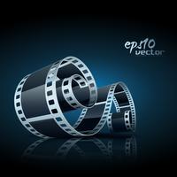carretel de filme de vetor