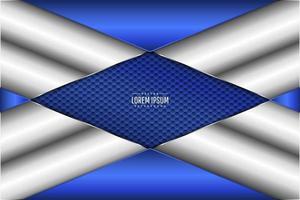 fundo de banner azul metálico vetor