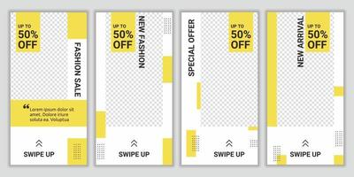 pacote de mídia social de venda de moda postar histórias para modelo de design de compras online. adequado para mídia social pós-promoção digital de estilo de moda. venda de vetores modernos e fundos de desconto